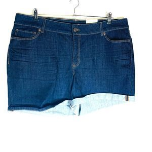 New Maurices Womans Denim Shorts Cuffed 24W